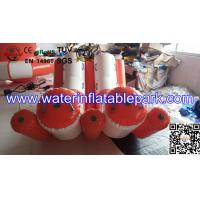 Professional Durable 0.9mm PVC Double Water Inflatable Seesaw / Water Totter Manufactures