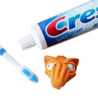 Quality Creative Funny Carton Dog Head Toothpaste Spread Head Toothpaste Cover for sale