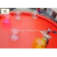 Red Large Inflatable Swimming Pools For Adults Outside Commercial Activity Manufactures