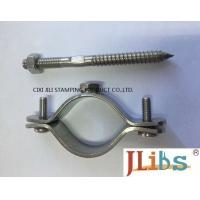 Buy cheap Wall Mount Pipe Bracket Stainless Steel Pipe Clamps With Nut Tapping Screw Nylon Plug from wholesalers