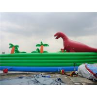 Colorful Dinosaur Theme Inflatable Water Parks For Pool And Lake Manufactures