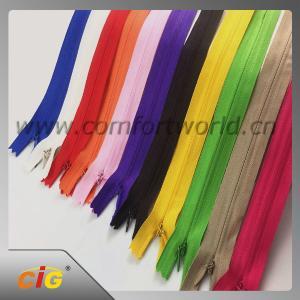 Brass / Aluminum / Plastic / Derlin / Nylon Invisible Zipper Slider Long Chain Manufactures