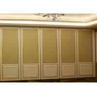 Cheap Banquet Hall Acoustic Movable Portable Room Divider Partition Panel by Folding and Moving for sale