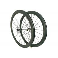 Carbon Fiber Road Wheels , Hand Built Light Weight Road Bike Wheels 700c