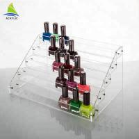 Table Top Acrylic Tiered Display Shelves Hold Acrylic Nail Polish Display Rack Manufactures