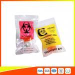 Zip Lock Plastic Biohazard Specimen Bags / Vaccine Transport Bags Waterproof Manufactures