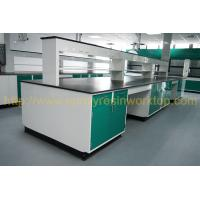Glare surface epoxy resin school chemical lab Island bench solid anti high temperature Manufactures