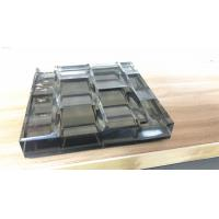 Laminated Carved Glass with metal coated polyester mesh fabric Manufactures
