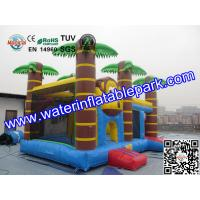 Trees Themed Inflatable Bouncy Castle With Slide / Monkey Moonwalk Moon Bounce Rental Manufactures