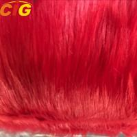 Long Hairs Plain Synthetic Faux Fur Fabric For Sofa And Car Seat Cover Manufactures