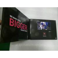 Cheap 2.4/4.3/5/7/10 Inch HD screen Video In Print Brochure , matte lamination color Cover for sale