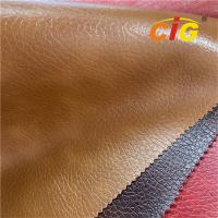 0.4mm -1.2mm Waterproof PVC Vinyl Leather Fabric For Car Upholstery SGS For Bags Manufactures
