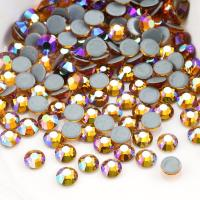 Round Garment Hotfix Glass Rhinestones / Luxury Loose Colored Rhinestones Manufactures