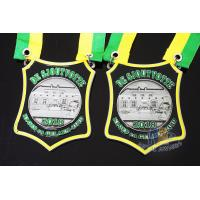 Nicekl Plating Soft Enamel Medals , Die Strucking Custom Medallions With Cord Manufactures