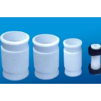 China White PTFE tube , 2.10g/cm³ PTFE Soft Joint / PTFE Material For Metal Tube on sale