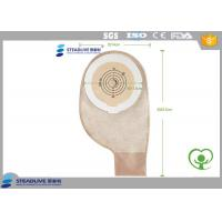 Double Guaranteed Adhesion One Piece Ostomy Bag , disposable colostomy bags Cut Size 50MM Manufactures