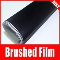 China TSAUTOP Rohs Certificate 1.52*30m Air Release black Brushed Aluminium Car Vinyl Wrap Film on sale