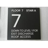 """Custom Braille / Tactile ADA Stair Signs Straight Edge 1/4"""" Non Glare Acrylic Panel Manufactures"""