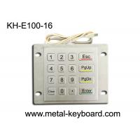 Weatherproof Metal Keypad with Top Panel Mounting , 16 button Checking device keypad Manufactures