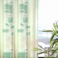 Fire-resistant Satin Curtain, Made of 100% Polyester Manufactures