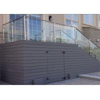Side Mount Stainless Steel Glass Railing Systems With 10mm / 12mm Tempered Glass Manufactures