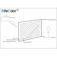 3D Holographic Rear Projector Film Adhesive Grey For Glass Manufactures