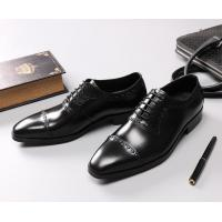 Leather Spring / Fall Men'S Wedding Dress Shoes Mens Fashion Goodyear Soles Oxfords Manufactures