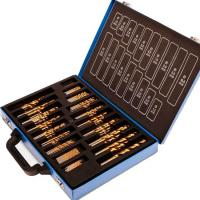 200pcs Titanium Nitride Twist HSS Drill Bit Sets with Carry Case High Precision and High Speed Manufactures