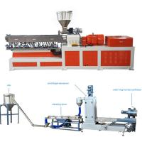 High Capacity Plastic Dual Screw Extruder With Water Ring Pelletizing System Manufactures