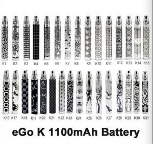eGo-K Battery K1-K31 650mAh|900mAh|1100mAh best price 2014 Manufactures