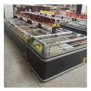Plug In R290 Commercial 2 Meters Supermarket Display Freezer For Frozen Food Manufactures