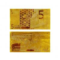 24k Gold €5 Euro Note Gold Banknote Gifts , Gold Foil Paper Money