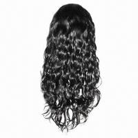 100% Brazilian Virgin Hair Lace Front Wig, Various Hair Textures, Natural Color for Black Women Manufactures