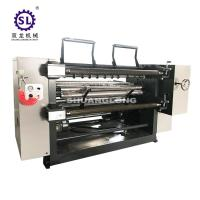 PVC and PET Window Film Slitter with Automatic Tension , Paper Slitting Machine Manufactures
