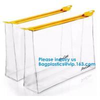 Buy cheap Clear Small Transparent Poly PVC Zipper File Wallet Packaging Women Travel Clear from wholesalers