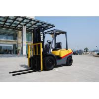 Full Free Mast Hydraulic Diesel Forklift Truck 3 Ton For Freight Yard Manufactures