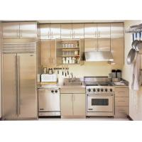 China Stainless Steel Integrated / Built in Kitchen Cabinets With Working Table on sale