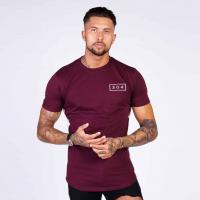New Design Men's GYM Wear Dry Fit Excercise Trainning Short Sleeve T Shirt Manufactures