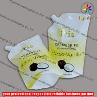 PE/PET side spout pouch packaging with bottom gusset,liquid bag Manufactures