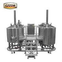 Cheap Micro Brewing Equipment , 15 BBL Steam Heated Brewhouse For Pub / Brewery / Hotel for sale