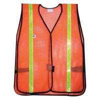 PVC DIPPED COATED POLYESTER MESH FABRIC FOR SAFETY VEST Manufactures