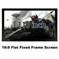 """Buy cheap Fast Delivery HD Projector Screen 110"""" Flat Fixed Frame Projection Fabric 16:9 from wholesalers"""