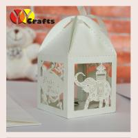 China Elephant shape wedding cake boxes decorations party favors with free logo on sale