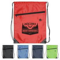 Red Durable Printed Drawstring Bags / Promotional Drawstring Backpacks Manufactures