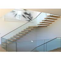 Wooden Steps Floating Steps Staircase Residential Indoor Stairs With Removable Stair Railing Manufactures