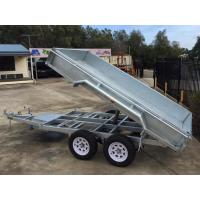 Steel 10x6 Hot Dipped Galvanized Tandem Trailer 3200KG With LED Light