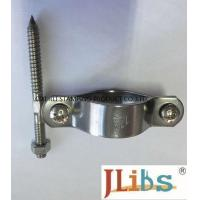Cheap Welding Connection Industrial Pipe Clamps , Standoff Pipe Clamps With Anodization Surface Finishing for sale