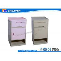 Aluminum Column Wooden Antique Hospital Bedside Cabinet Table With Drawer And One Door Manufactures