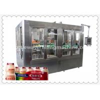 Automatic Bottle Soybean Milk Hot Filling Machine With 8 Capping Head Manufactures