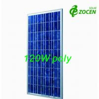 Cheap Photovoltaic PV Polycrystalline Solar Module 120W for Charging Led lights for sale
